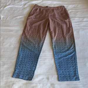 H&M Ombre Printed Silky Pant S Small